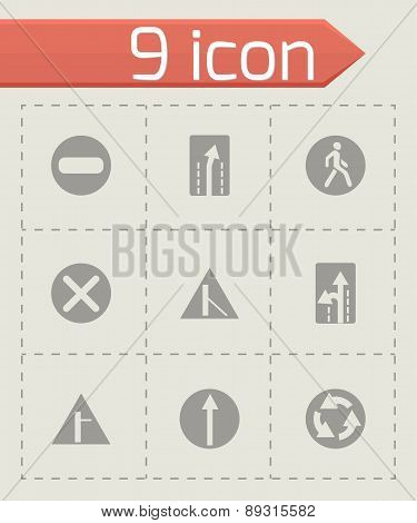 Vector road element icon set