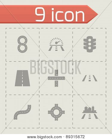 Vector road icon set