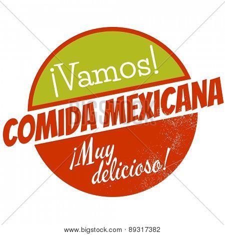 vintage sign that means come on mexican kitchen very delicious