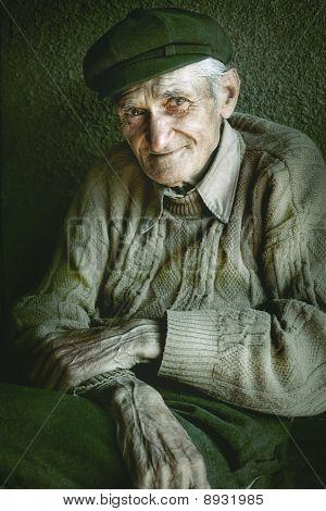 Artistic Portrait Of Old Senior Man