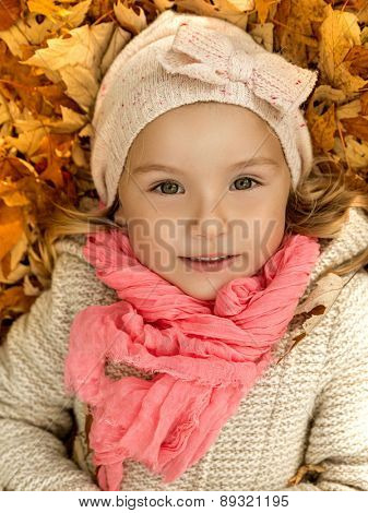 portrait of cute little female child