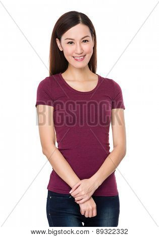 Asian woman isolated