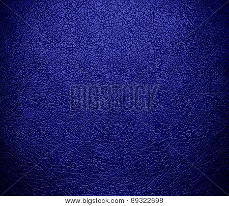 Blue (pigment) color leather texture background