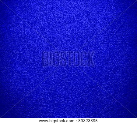 Blue (RYB) color leather texture background