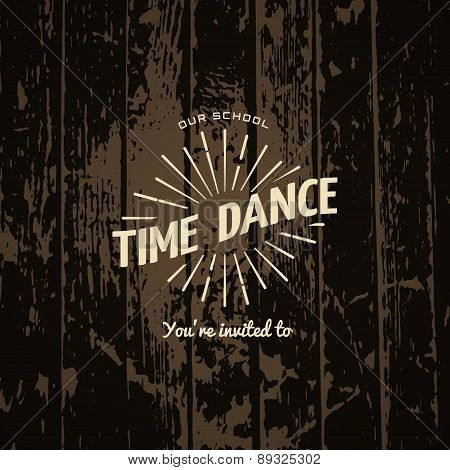 Time dance badges logos and labels for any use