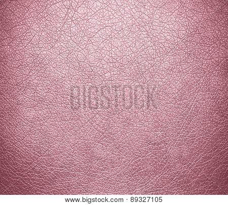 Bubble gum color leather texture background