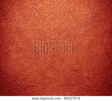 Burnt sienna color leather texture background