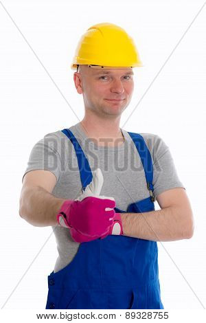 Workman With Thumb Up