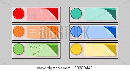 simple infographics set of colorful buttons