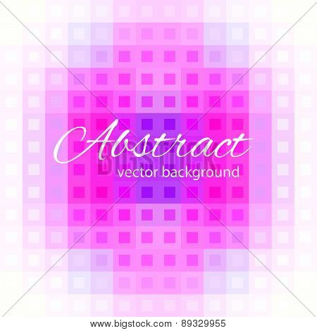 Geometric abstract background. Composition of squares. Mosaic purple .