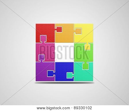 Colorful puzzle illustration