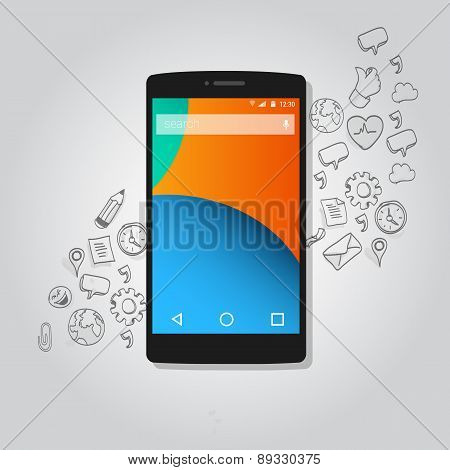 smart phone function icon concept vector