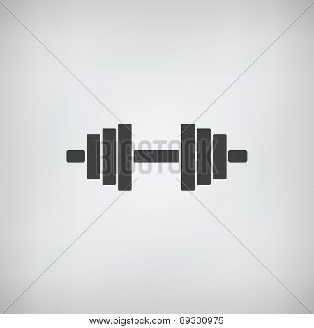 Dumb Bells Icon Vector. Flat Design