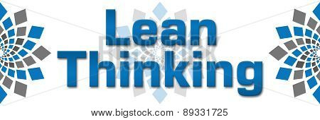 Lean Thinking Blue Grey Squares Elements Banner