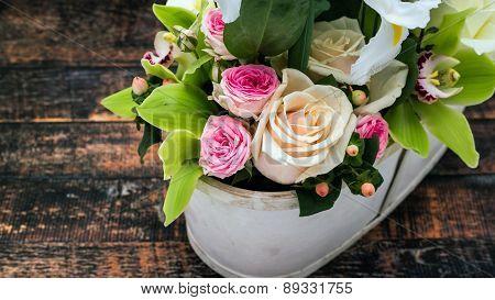 Closeup Of Vintage Roses