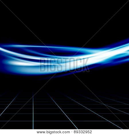 Blue Futuristic Abstract Energy Speed Wave