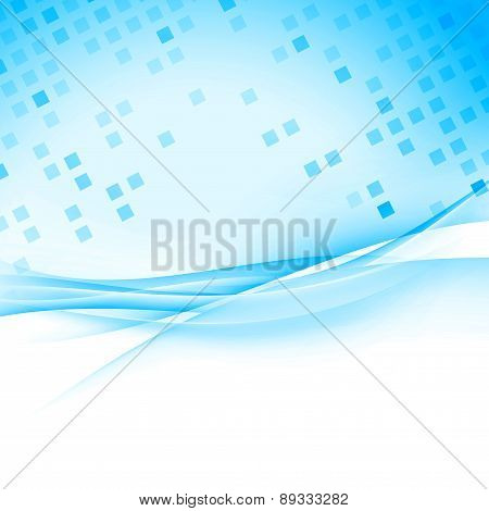 Tile Cell Modern Abstract Blue Hi-tech Background