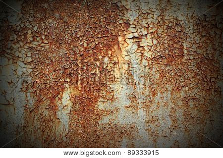 Texture Of Rust On Metal
