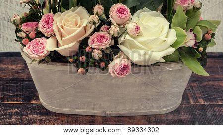 Roses Bouquet, Vintage Style