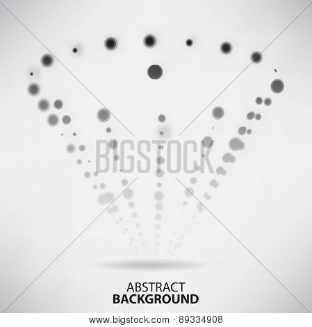 Abstract Black And White Background With Dots And Lines On Theme