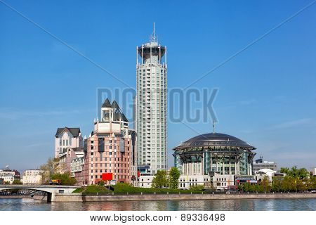 Moscow, Moskva River Embankment And House Of Music