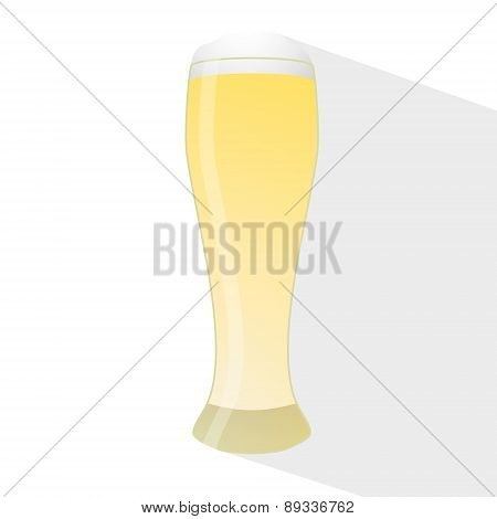 creative vector illustration with a glass of beer