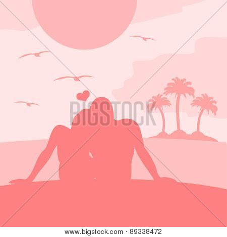 Romantic summer background card