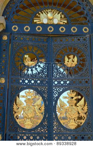 Grand entrance door at palace