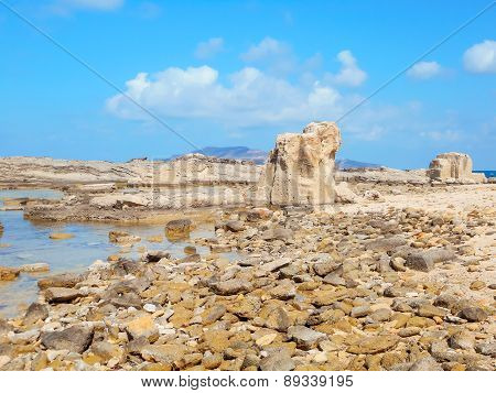 A View Of A Rocky Shore Of A Sicily Island