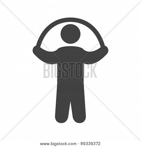 Person skipping rope