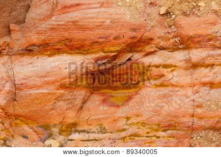 Colorful (Orange and Yellow) Sand Rock Pattern.