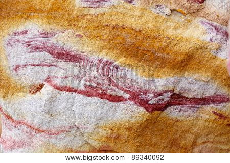 Colorful (Orange and Red) Sand Rock Pattern