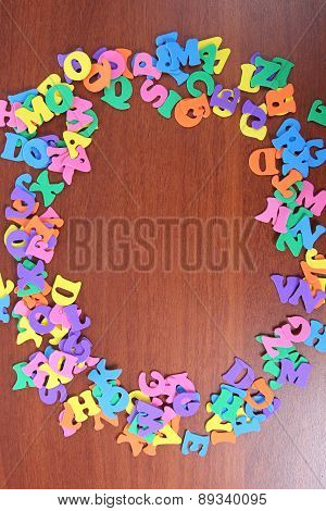 Letters On A Wooden Table