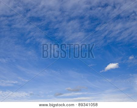 Beautiful cirrus clouds in the sky