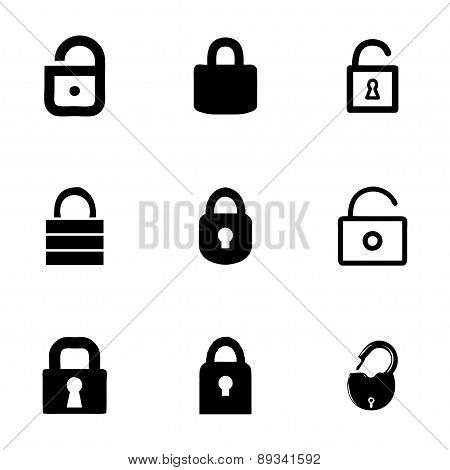 Vector lock icon set