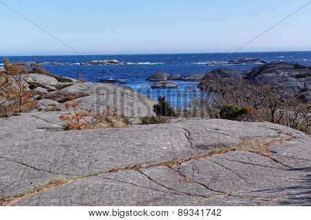 Folded Rocks On The Coast Of Southern Norway