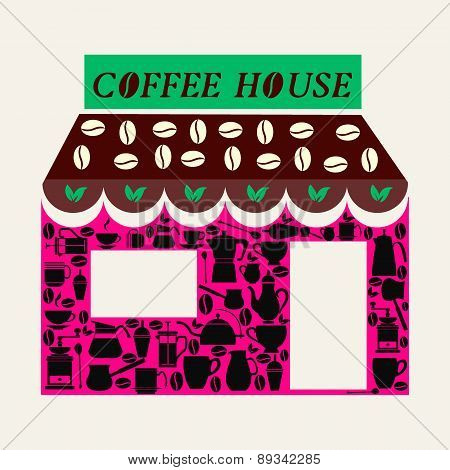 Pattern Coffee Shop And Coffee House Background - Illustration