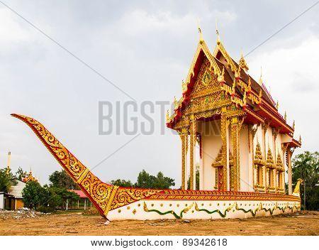 Suphannahong Buddhist Church In Wat Banwangyaw, Mahasarakham, Thailand