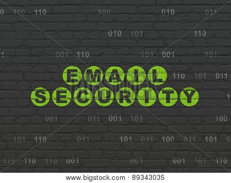 Protection concept: Email Security on wall background