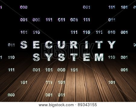 Security concept: Security System in grunge dark room