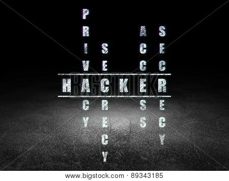 Protection concept: word Hacker in solving Crossword Puzzle