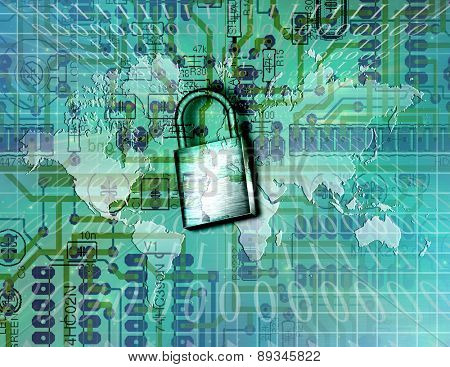 Electronic Security Elements of this image furnished by NASA