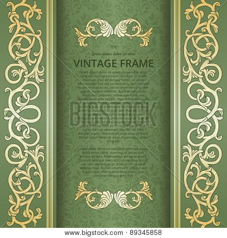 Vintage background with flourish borders