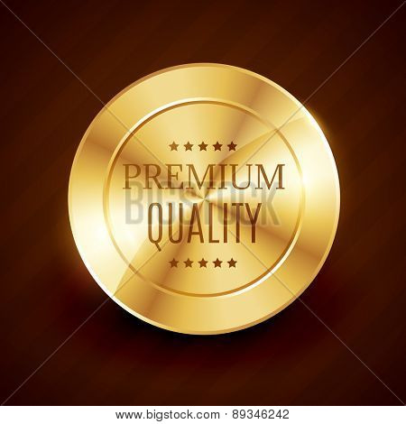 premium quality golden button vector design with stars