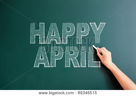 writing happy april on blackboard