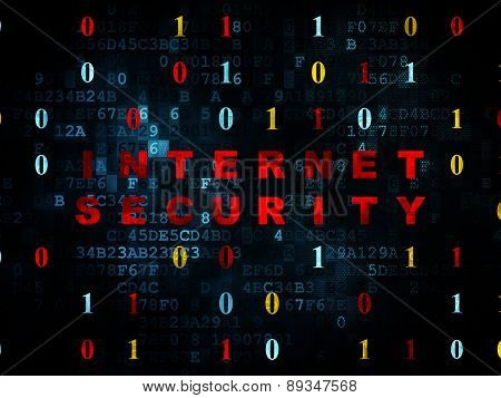 Safety concept: Internet Security on Digital background