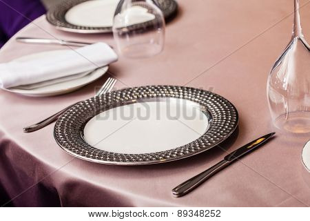 set in restaurant
