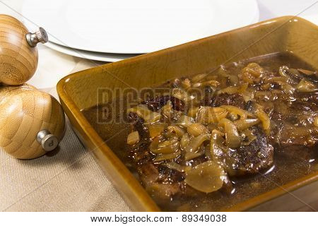 cooked braising steak