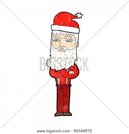 cartoon hipster santa clause