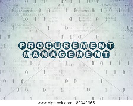 Business concept: Procurement Management on Digital Paper